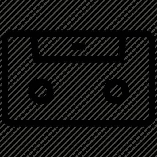 audio, cassette, old, retro, tape icon