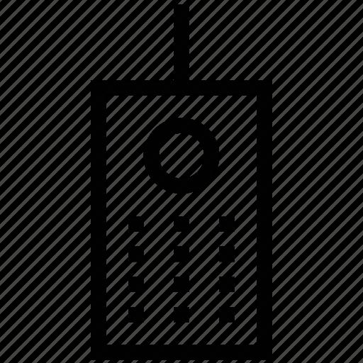 cordless, phone, telephone, walkie talkie icon