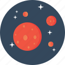 astrology, astronomy, galaxy, planet, satellite, small, space icon