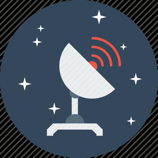 communication, radio, satellite, space, telescope, tracker, wave icon