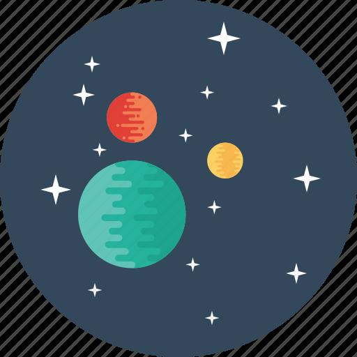 galaxy, mars, planet, space, sun, universe, uranus icon