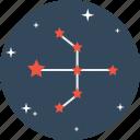 arrow, astrology, bow, galaxy, pattern, space, star