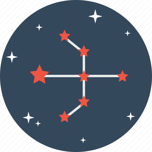 arrow, astrology, bow, galaxy, pattern, space, star icon