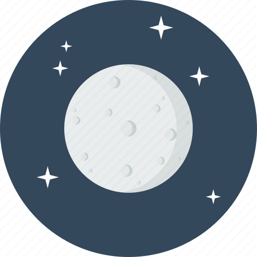 astrology, moon, natural, planet, satelite, solar, system icon