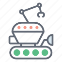 colony transport, planetary rover, robot rover, space rover, space transport, space vehicle icon