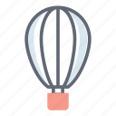 air delivery, airdrop, hot air balloon, space supply delivery, supply drop icon