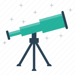 astronomy, lense, mirror, optical, radio, telescope, tracker icon