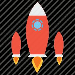galaxy, invasion, rocket, solar, spaceship, system, universe icon