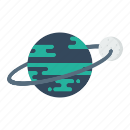 earth, galaxy, orbit, planet, ring, space, universe icon