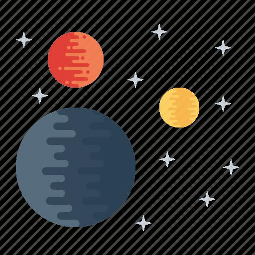 mars, planet, satellite, space, sun, universe, uranus icon