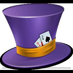 cap, hat, poker icon