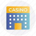 architecture, building, casino, gambling, game, object icon