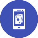 casino, gambling, mobile, online, phone, poker, slot icon