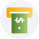atm, cash machine, cash out, transaction, withdrawal icon