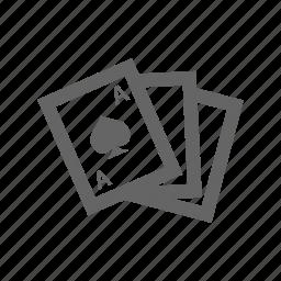 ace, blackjack, cards, casino, games, poker, spade icon