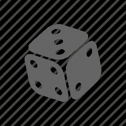 casino, dice, game icon