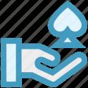 ace, casino, gambling, game, hand, poker game icon