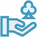 casino, clover, gambling, game, hand, suit icon