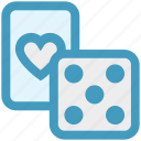 card, casino, dice, gambling, heart, poker icon