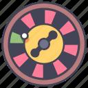 casino, gambling, roulette, gamble, risk, lucky, wheel icon