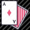 blackjack, card, casino, diamonds, gambling, poker icon
