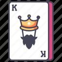 blackjack, card, casino, gambling, king, poker icon
