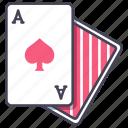 blackjack, card, casino, gambling, poker, spades icon