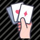 card, casino, gamble, gambling, game, hand, poker