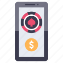 bet, betting, gamble, gambling, mobile, online, phone icon