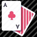 blackjack, card, casino, clubs, gambling, poker icon