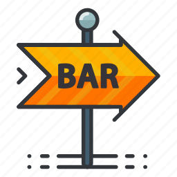 arrow, bar, direction, gambling, sign icon