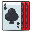 cards, casino, clubs, gambling, game, play icon