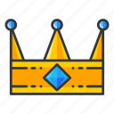 crown, gambling, king, value, win icon