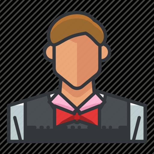 avatar, casino, dealer, gamble, gambling, game icon