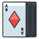 cards, diamonds, gamble, gambling, game, play icon