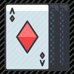 cards, diamonds, gamble, gambling, game, play icon