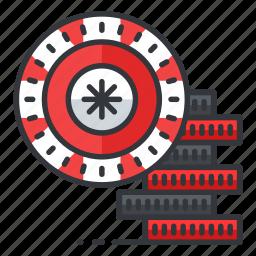 bet, casino, chips, gamble, gambling icon