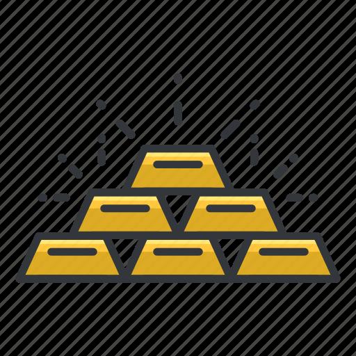 gambling, gold, reward, value, win icon