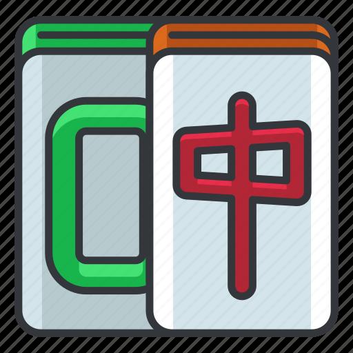 gamble, gambling, game, mahjong, play icon