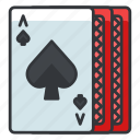 cards, gambling, game, play, spades icon