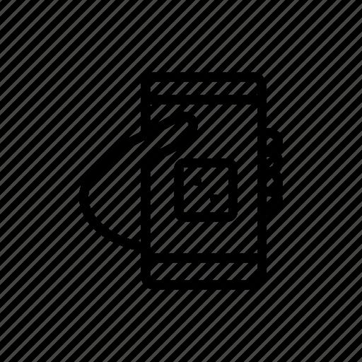 dice, gambling, hand, mobile, phone icon