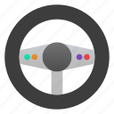 controller, game, steering wheel icon