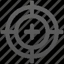 game, shot, target icon