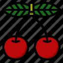 casino, cherry, fruit, machine, slot icon