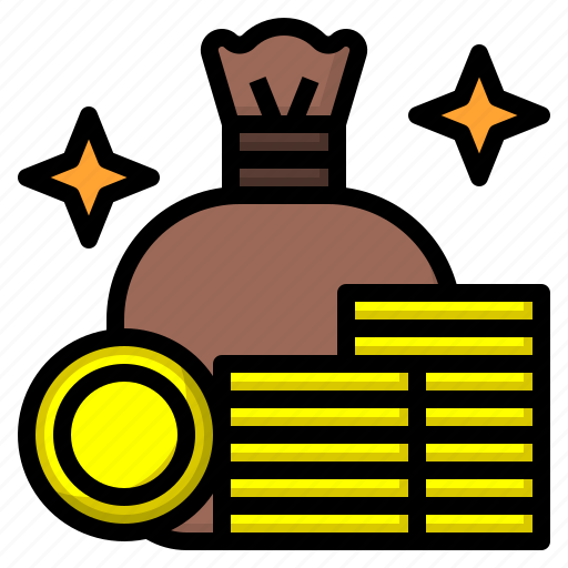 business, coin, currency, game, gold icon