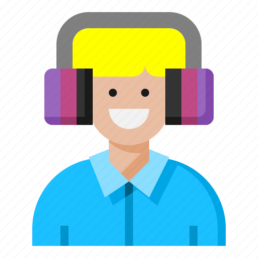 ear, electronics, game, headphones, microphone icon