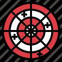 board, dart, gaming, targeting icon