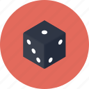 chance, design, dice, gamble, gambling, game, gaming, number, numbers, play, random, risk, roll icon