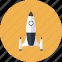 design, game, gaming, launch, play, rocket, ship, space, spacecraft, spaceship, speed, start icon