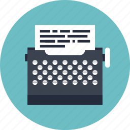 author, classic, design, document, file, game, gaming, letter, mail, manual, message, page, paper, play, retro, scenario, script, text, typewriter icon